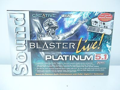 BRAND NEW Creative Sound Blaster Live Platinum 5.1 Sound Card