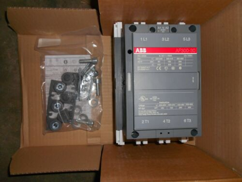 ABB AF300-30 01E-72  3p CONTACTOR 500AMP 120V w/ mounting kit 4 210,260&300  Nos