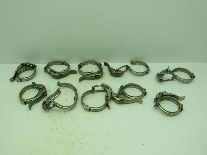 "2"" Quick Release Toggle Clamp Tri Clamp Stainless  Lot of 10"
