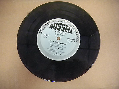 RUSSELL RECORDS 33-139 i'm a little teapot /  same    TAP   33