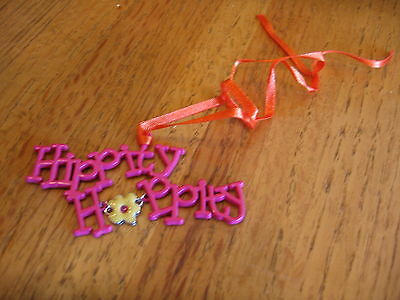 Longaberger Hippity Hoppity Easter Tie-On metal bright New 2011 *free shipping!*