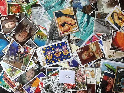 100 Different Great Britain Commemoratives 2010-2015 Stamp Collection