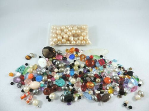 Mixed Lot of Knock Out Stones & Beads With Bonus Costume Pearls -  500+ Carats