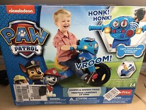 Paw patrol lights and sounds trike
