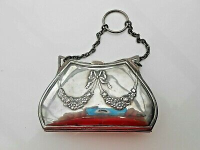 1920s Handbags, Purses, and Shopping Bag Styles Vintage Solid Silver  Ladies Evening Purse $138.19 AT vintagedancer.com