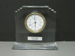 Waterford Crystal Metropolitan Large Mantel Table Top Clock
