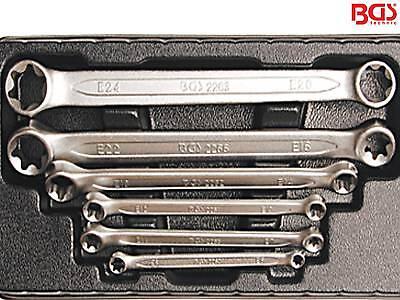 BGS 2268 6-tlg Satz Doppel Ringschlüssel Torx gerade Form