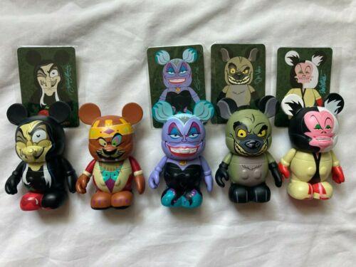"""Disney 3"""" Vinylmation Villains 1 - Set of 5 - Ursula, Cruella, Banzai , Witch"""