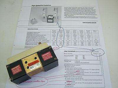 WR22 high speed pin RF switch 33 - 50GHz Hughes 47972H-1100