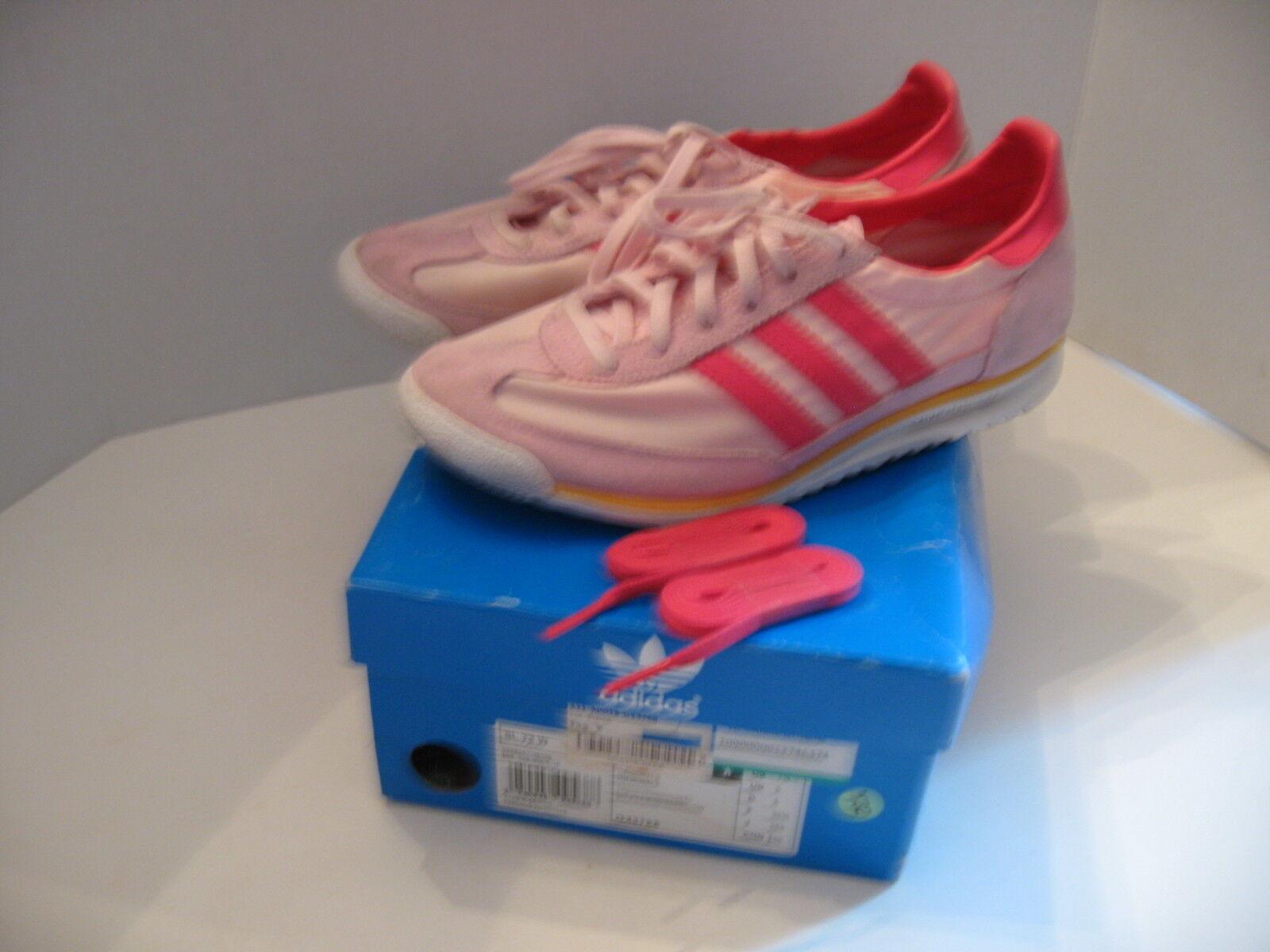 PINK ADIDAS ORIGINALS SL 72 Retro Training Track Shoes With Box Size Womens 7.5