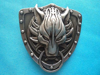 Final Fantasy Wolfs Head Jeans Belt Buckle