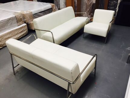 Large Quantity Sofas -  PU Leather - Metal Frames Dandenong South Greater Dandenong Preview