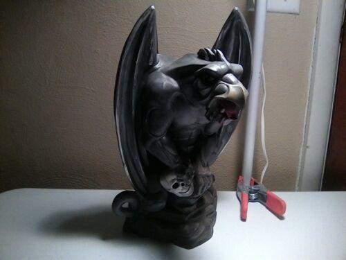"Halloween, Horror plaster Gargoyle statue hand painted, 15.5"" tall x 10"" wide..."