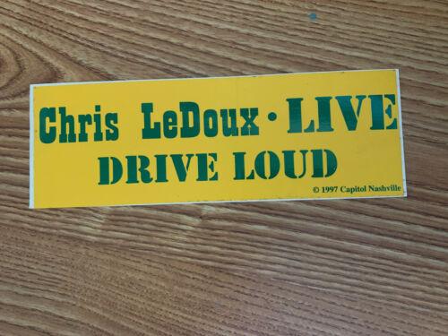 RARE CHRIS LEDOUX LIVE DRIVE LOUD Vinyl bumper Sticker Decal 1997