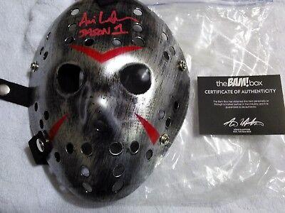 JASON VOORHEES Signed SILVER Hockey Mask Ari Lehman FRIDAY  13TH Bam Box LE150
