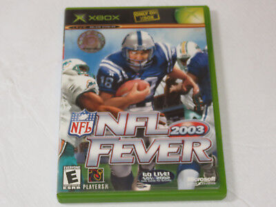 Nfl Fever 2003 Microsoft Xbox 2002 Live Online Enabled Video Game E Everyone