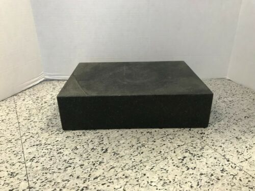 "Mitutoyo BLACK GRANITE SURFACE PLATE AA LABORATORY GRADE 9 X 12 X 3"" 517-701 BR"