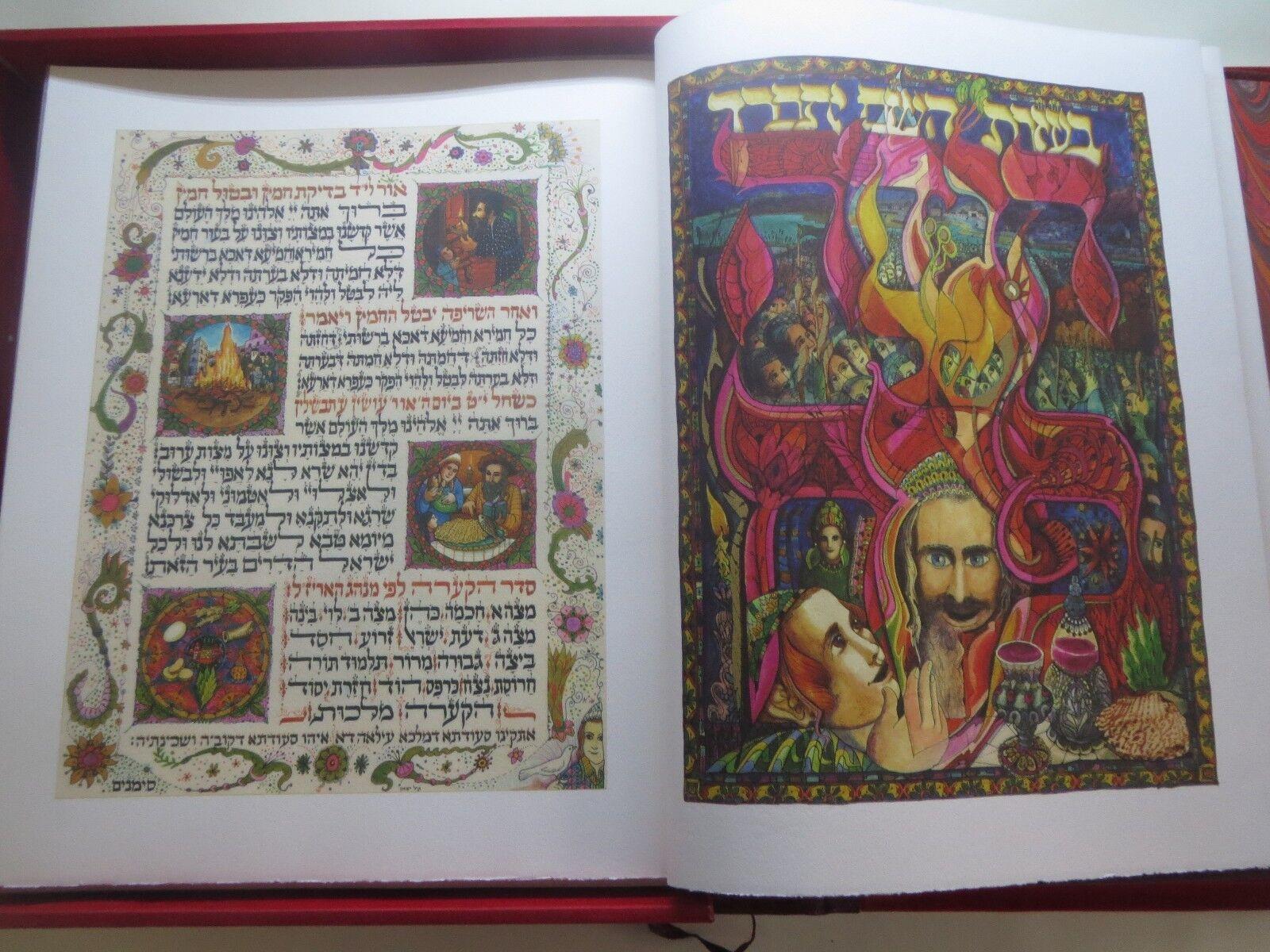 Magnificent Passover Haggadah Besançon Amazing illustrations Signed Copy HEBREW