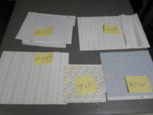 LOT OF MISC PIECES OF Dollhouse Wallpaper  1:12 Scale