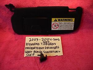 2003 2006 hyundai tiburon factory oem driver black sunvisor clip free shipping ebay. Black Bedroom Furniture Sets. Home Design Ideas