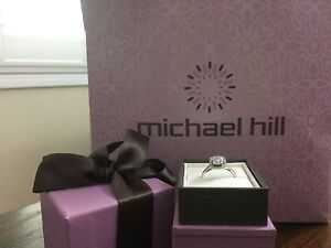 Michael hill diamond engagement and wedding band set