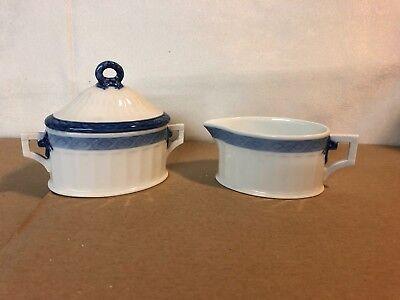 Royal Blue Fan (Royal Copenhagen Blue Fan 1212 -   Milch und Zucker als Set )