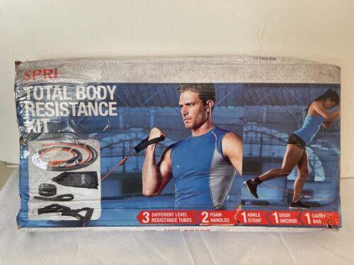 SPRI Total Body Resistance Kit New In Worn Damaged Box - Light Med Heavy