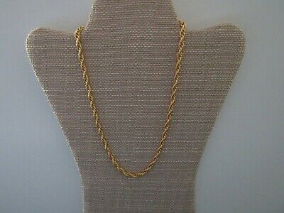 """New Old Stock"" Vintage Gucci Style Link 24kt Gold Electroplated 19"" Necklace"