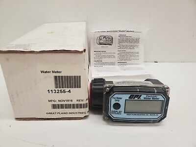 New In Box Gpi Electronic Water Meter 01n31gm 113255-4