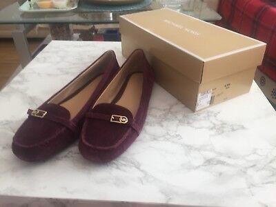 Michael Michael Kors Bryce suede loafers Schuhe Plum  US 9.5M  EU 40.5 NEU OVP 9,5 M Schuhe
