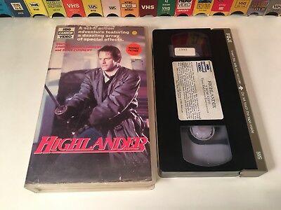 Highlander 80's Fantasy Action Adventure VHS 1986 Christopher Lambert HBO Cannon