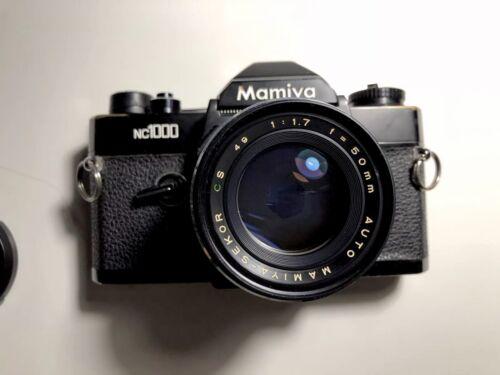 Mamiya NC1000 Camera , Lens, Manual, 35mm Film Camera With 50mm F1.7 Repair - $40.00