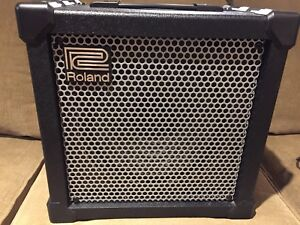 Roland Cube 40 XL Combo guitar amp and Boss FS-5U pedals