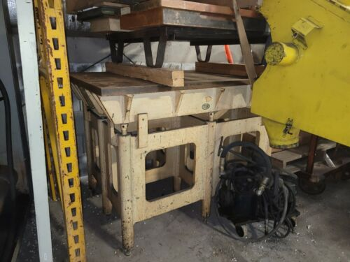 """53"""" x 36"""" Cast Iron Inspection/Layout/Setup Table w/36"""" H.D. Adjustable Stand"""
