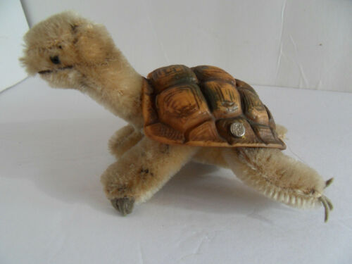 Steiff turtle miniature with button stuffed animal Germany 2539