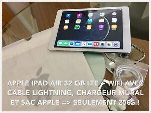 SOYEZ INDÉPENDANT DU WIFI AVEC CE IPAD AIR 1 32 GB LTE/4G/3G !!!