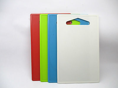 Set of 5 Plastic Vegetable Kitchen Meat Cutting Plain Kitchen Chopping Boards