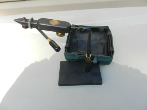 Vintage Regal Engineering Fly Tying Vise W/ Waste Trol  W/ Heavy Base Black