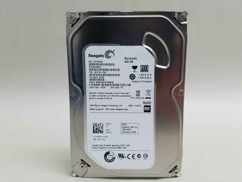 Seagate Barracuda ST500DM002 500GB SATA III 3.5 in Desktop Hard Drive