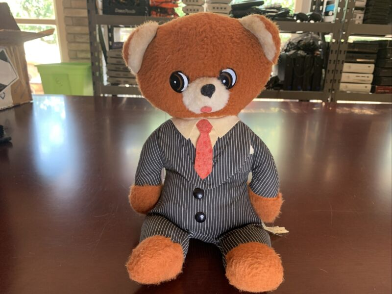 Vintage silly talking executive business Teddy bear  yes man working Ships Free!