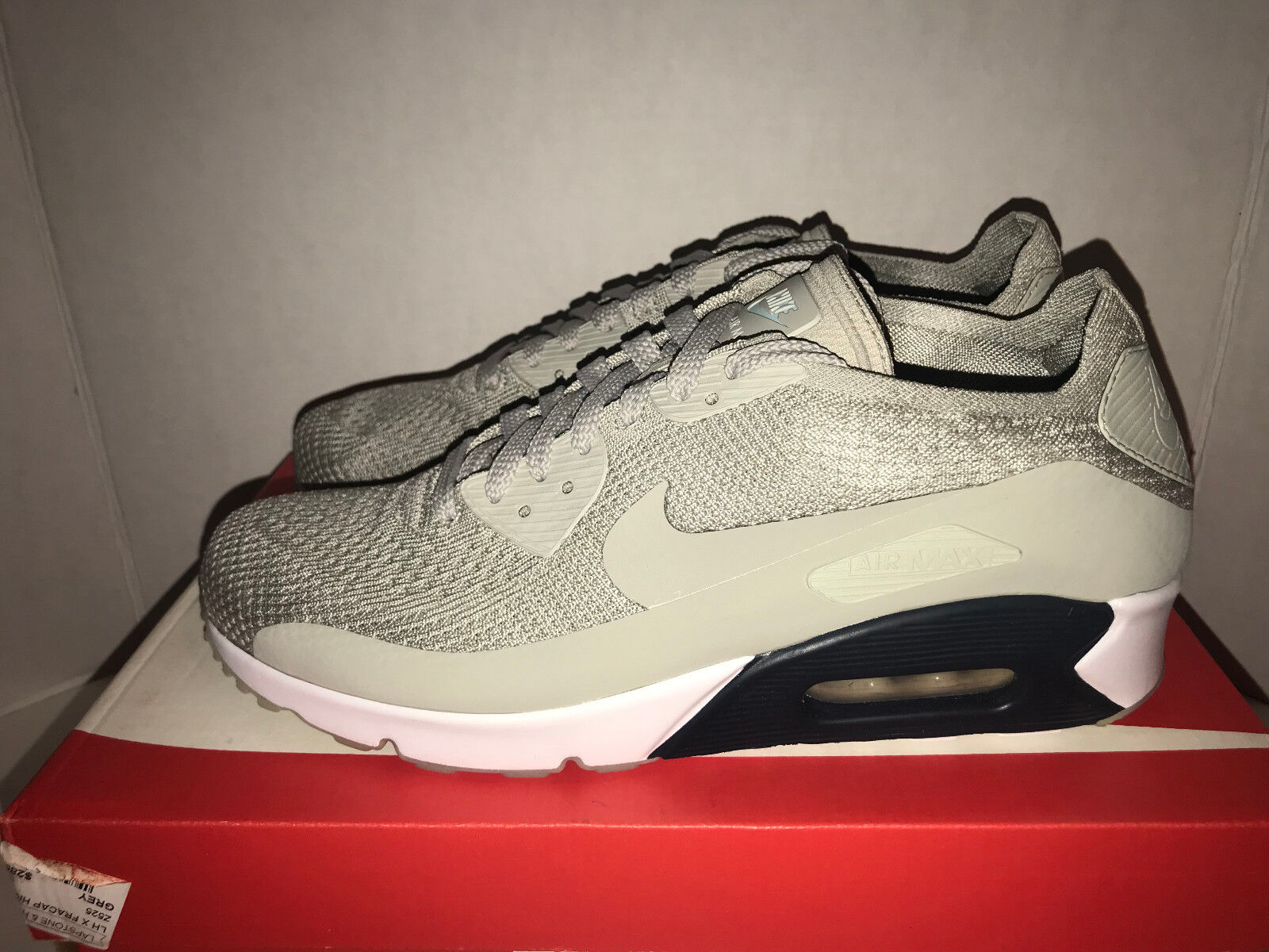 Nike Air Max 90 Ultra 2.0 Essential Fly Knit Men's Size 10 12 13 Pale Gray