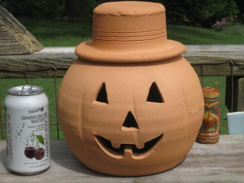 Terracotta Handmade Pumpkin w/Hat Craven