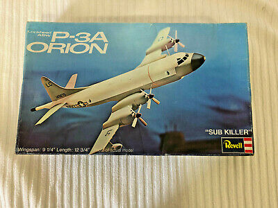 """REVELL LOCKHEED ASW P-3A ORION """"SUB KILLER"""" H-163:200 1973 Complete, used for sale  Shipping to Canada"""