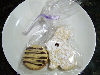 10 pack of EASTER LINZER BUNNY/ROUND COOKIES  W/RASPBERRY preserve,HOME MADE  ](Easter Bunny Cookies)