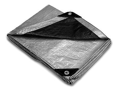 Silver Poly Hurricane Tarp Multi Purpose Economy Cover Size 30'x40' - 1 per box