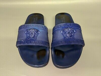 "Versace Palazzo Pool Slides 3D Medusa Head Greca 11""Shoes Sandals  (H5)"