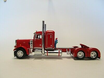 DCP FIRST GEAR 1/64 SCALE 359 PETERBILT SMALL BUNK, RED & CHROME 1