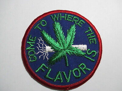 Come To Where The Flavor Is Patch Vintage Original NOS Pot Weed Grass Hemp