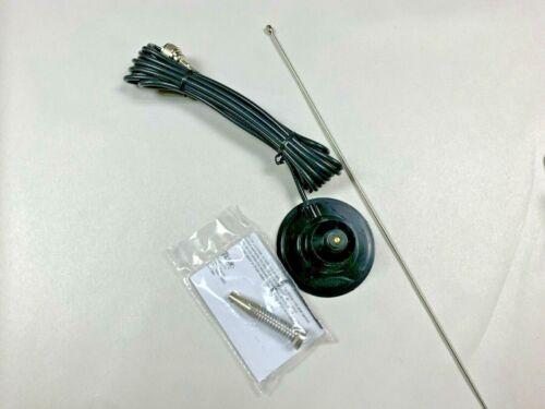 """Hustler IC-100S-B 41"""" Magnet mag Mount CB Antenna Kit With Spring Black"""