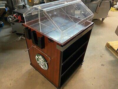 Starbucks 32 X 27 Mobile Rolling Bagel Donut Bakery Case Display Merchandiser